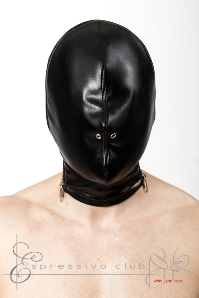 Dominate, dominant, dominatrix, submission, submissive, sub, slave, flogging, chains, rope, whip, handcuff, spanking, bondage, tied, master, punish, espressivoclub, EspressivoClub, espressivo club, handmade, hand made, handcraft, breathplay mask, Bondage Isolation Subspace Hood / Leather Lined Front hood with two side zipper / Sensory deprivation leather hood / Breath control hood mask / Bondage isolation breathplay hood / Heavy bondage restriction hood , breath play mask, breath play hood