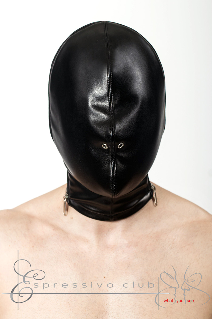 Bdsm hood leather mask