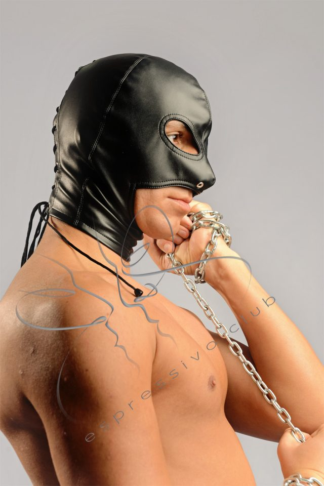 bondage hood, bdsm, sm games, facesitting, rimming, femdom, bootworship, footworship, assworship, leather hood, open chin hood,