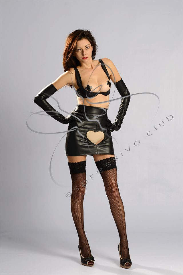 Open front leather skirt , Fetish leather mini skirt, fetish clothing, leather skirt, Submissive leather skirt , Leather mistress skirt, Heart cut out leather skirt