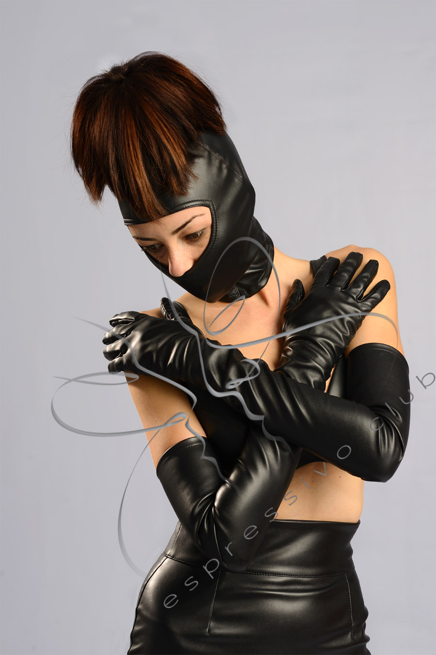 Sweet Gwen Hood with ponytail tube | High Quality Fetish