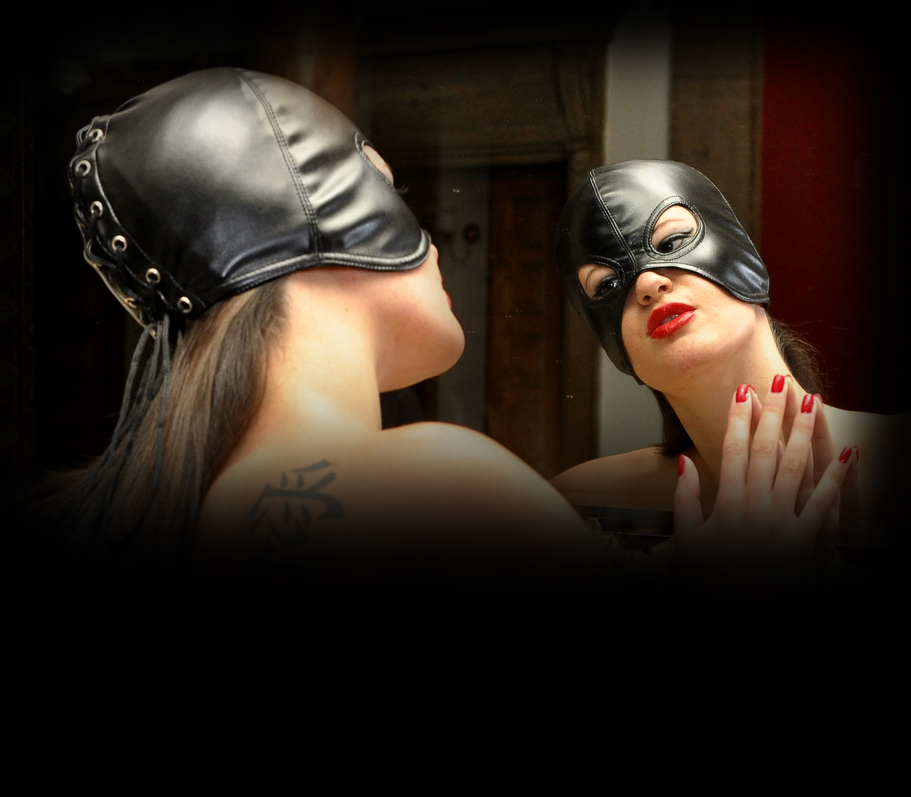 fetish hood, fetish mask, bdsm hood, bdsm mask, fetish store, bdsm store, espressivo club, espressivoclub, half-hood, leather mask, leather hood, bdsm-gear, head mask, fetish event, fetish party, bdsm event, bdsm clothing, fetish accessories