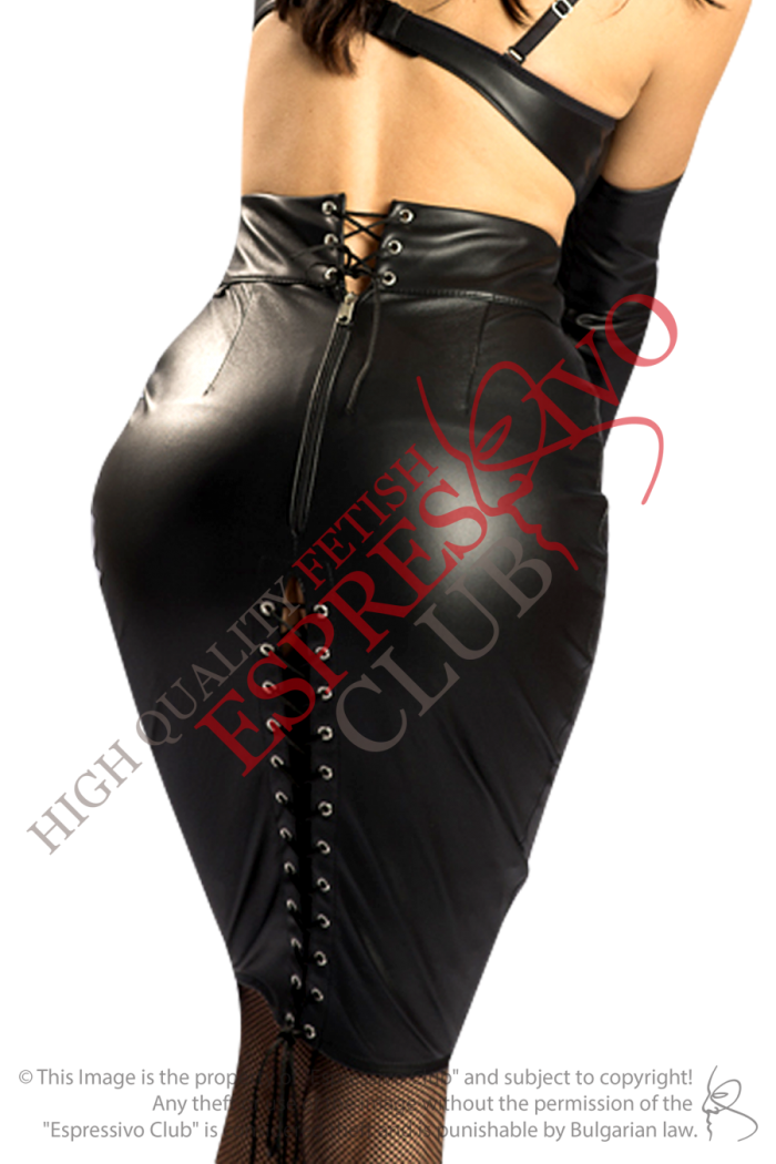 fetish skirt, leather skirt, bdsm-wear, bdsm, fetish wear, fetish clothing, mistress skirt, mistress clothing, espressivo club, espressivoclub, leather clothing for her, sexy wear