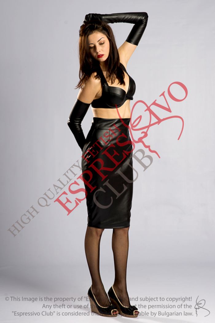 Stylish Black Leather Skirt back zip, Knee Length Pencil Skirt , bdsm, fetish party, fetish clothing, what to wear on a party, leather skirt, dominatrix clothing, submissive clothing, knee lenght leather skirt, pencil leather skirt